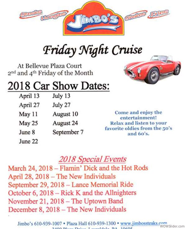 Jimbos-2018-Car-Cruise-Dates-WOW