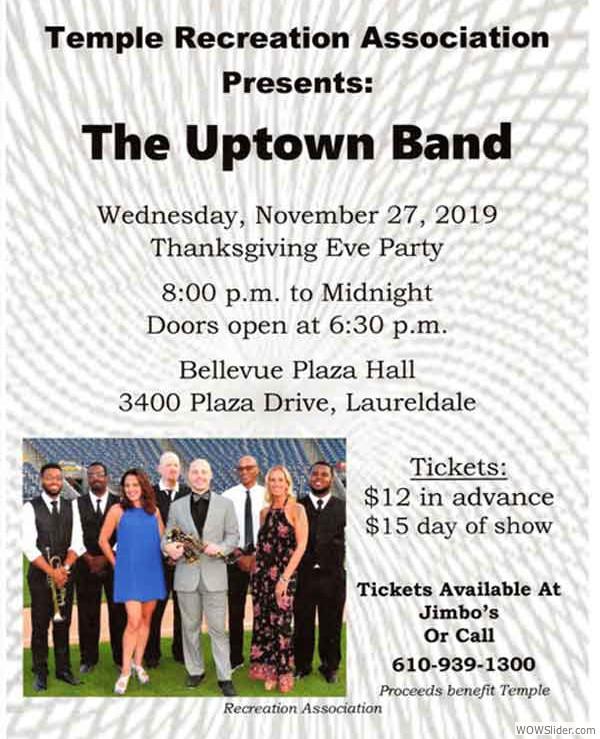 Jimbos-Flier-2019-Nov-27-Uptown-Band-WOW